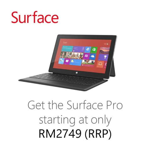 Microsoft Surface Pro Malaysia microsoft surface pro landed in malaysia prices starting from rm 2 749