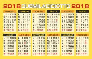 Calendario 2018 Settimane Calendario 2017 Vettoriale