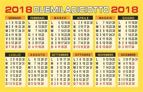 Calendario Annuale 2018 Calendario 2017 Vettoriale
