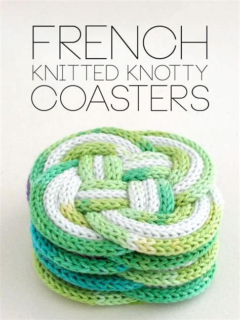 spool loom knitting patterns diy knitted knotted coasters you ve got to be