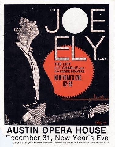 austin house music south austin museum of popular culture joe ely at the austin opera house new year s eve 1982