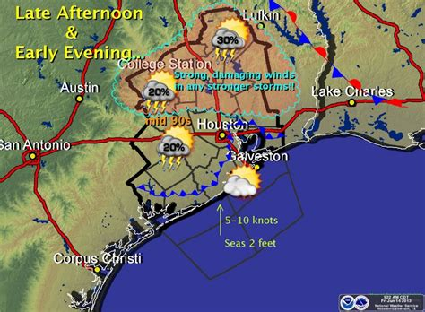 weather map texas today weather in houston area