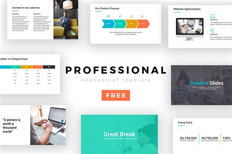 Professional Powerpoint Template Free Presentation Theme Professional Ppt Templates Free