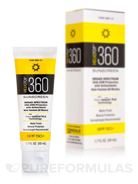 heliotop 360 sunscreen spf 50 1 7 fl oz 50 ml