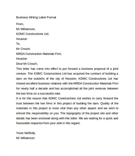 Business Letter Language Business Letters 7 Free Sles Exles Formats