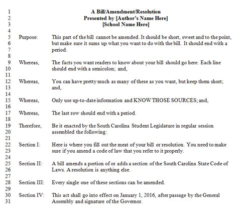 student congress resolution template 13 images of senate bill template leseriail