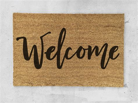 door welcome mat welcome doormat painted welcome door mat