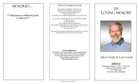Funeral Program Templates   Trifold Plain Template