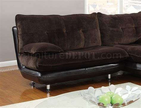 sectional sofa usa u3613 sectional sofa in chocolate by global furniture usa