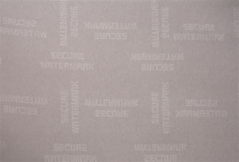 How To Make A Watermark On Paper - secure watermark security paper