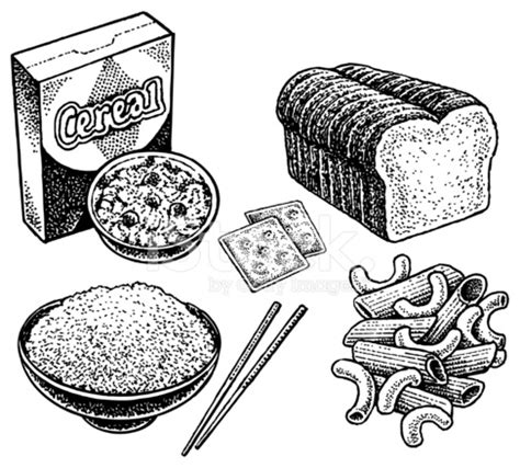 carbohydrates of rice carbohydrates crackers bread cereal rice pasta stock