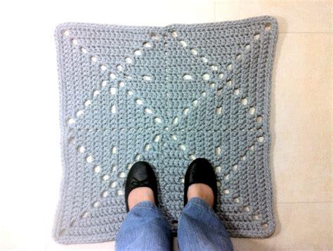 tutorial diy alfombra cuadrada de trapillo  ganchillo