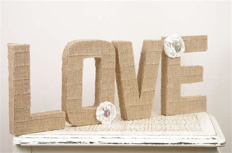 burlap covered letters unavailable listing on etsy