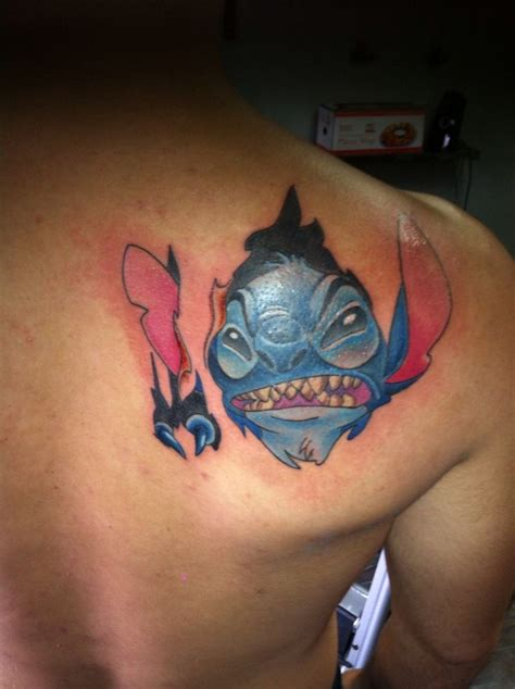 stitch tattoos i this even though stitch is not that scary
