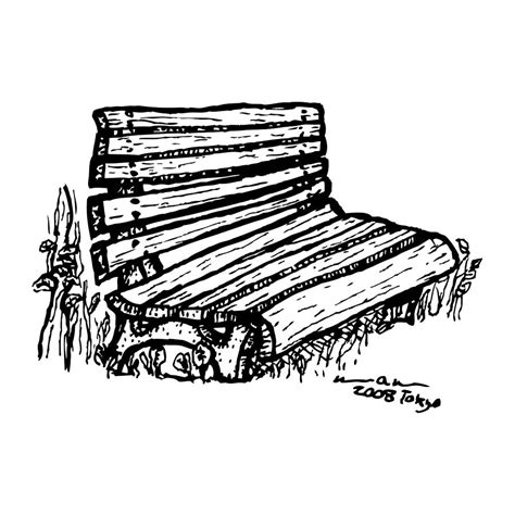 park bench drawing bench by karl addison