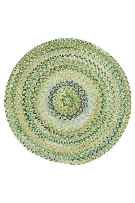 green braided rugs pale green ocracoke braided chenille rug cottage home 174