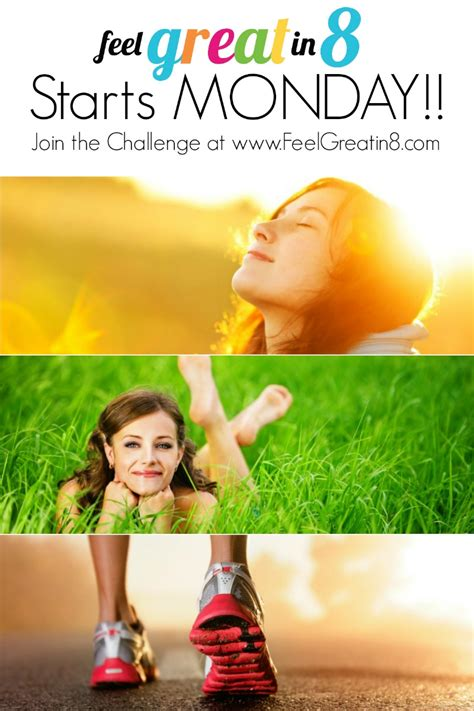 8 simple weeks to feeling great a health challenge for everyone books new feel great in 8 starts monday feel great in 8
