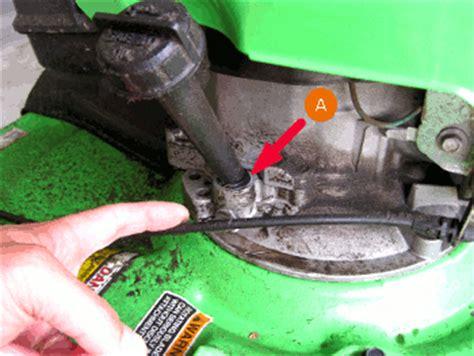 mower oil leak