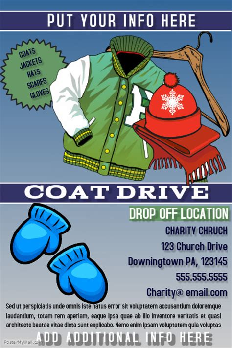 coat drive template   PosterMyWall