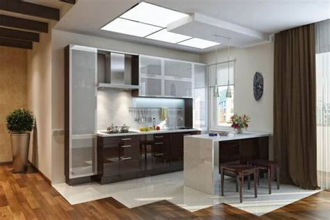 modern glass and metal cabinetry