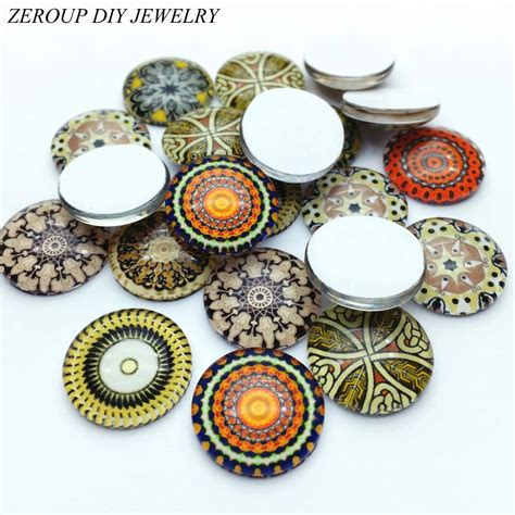 Handmade Jewelry Kits - aliexpress buy glass cabochon 12mm mixed photo