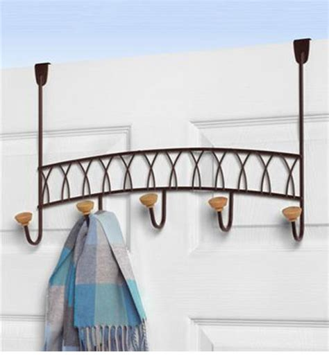 Door Hanging Rack by Hanging Coat Rack Bronze In The Door Hooks