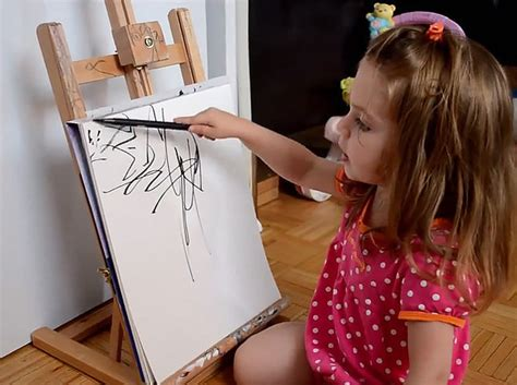painting 9 year this artist turns 2 year s doodles into gorgeous