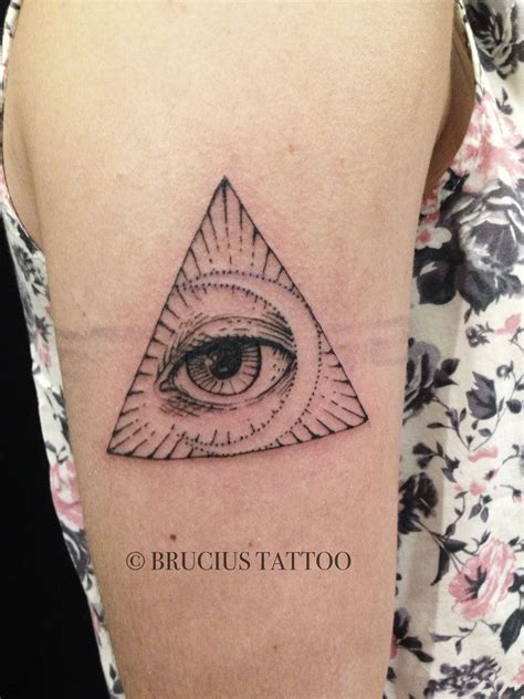 Motive Klein 5334 by All Seeing Eye Triangle Crescent Moon Tattoos