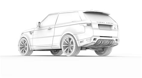 land rover drawing anyone care for a true two door range rover sport coupe