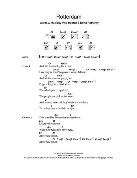 lyrics beautiful south rotterdam sheet by the beautiful south lyrics