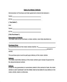 used vehicle sales agreement template doc 728950 vehicle sale agreement template the used