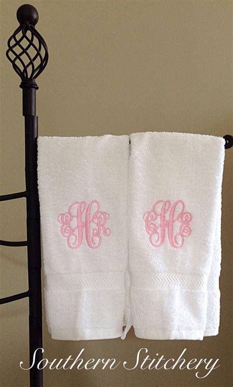 Monogram Hand Towels   Monograms   Monogram towels
