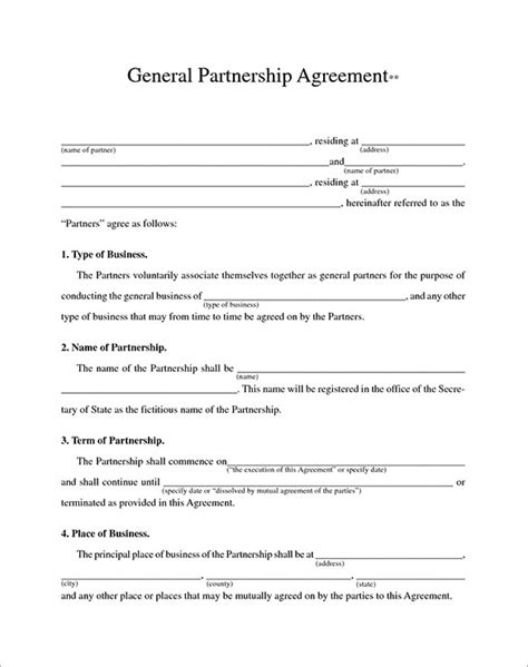 business contracts templates business contract templates 10 free word pdf documents