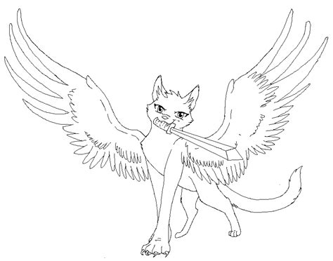 winged cat coloring page anime winged cat coloring pages coloring pages