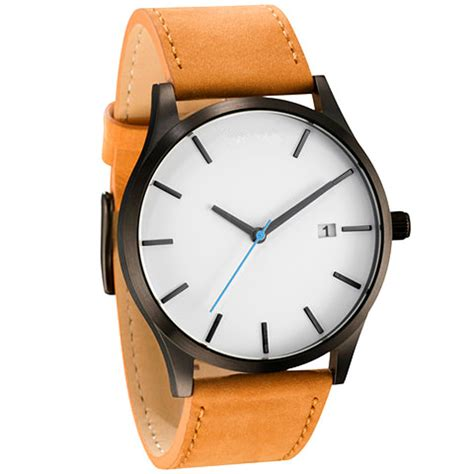 7 Pretty Watches by Mens Sport Date Analog Model Quartz Leather Simple