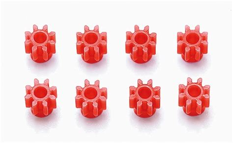 8 T Plastic Pinion Gear Set tamiya item no 15380 hg 8t plastic pinion gear set 8pcs