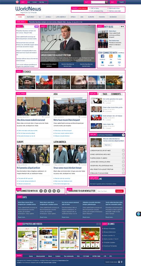 joomla template free 2 5 sj worldnews best news joomla templates