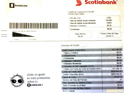estado de cuenta scotiabank scotiabank l 237 nea de cr 233 dito scotialine un dolor de