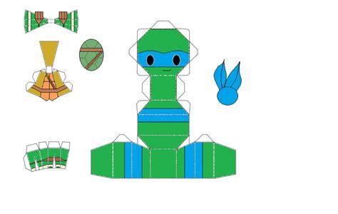 Tmnt Papercraft - tmnt leonardo chibi papercraft by thestickfigureking on