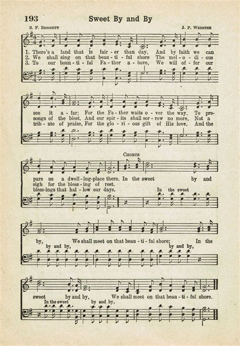 thesweethome sheets sweet by and by printable antique hymn page knick of time