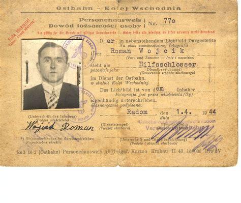 printable holocaust id cards radom www holocaustresearchproject org