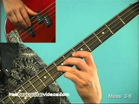 tutorial guitar reggae bass lesson easy reggae line youtube