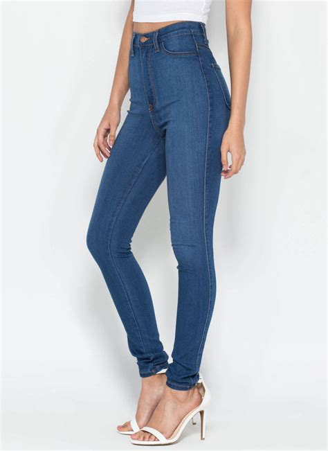 High Waisted perfectly basic high waisted blue dkblue gojane