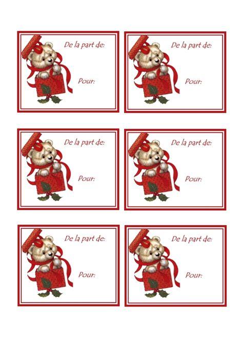 Etiquettes Cadeau Noel etiquettes cadeaux noel