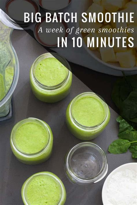Weekly Detox Smoothie by How To Prep A Weeks Worth Of Green Smoothies Helloglow Co