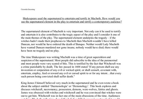 the supernatural in shakespeare english literature shakespeare used the supernatural to entertain and terrify