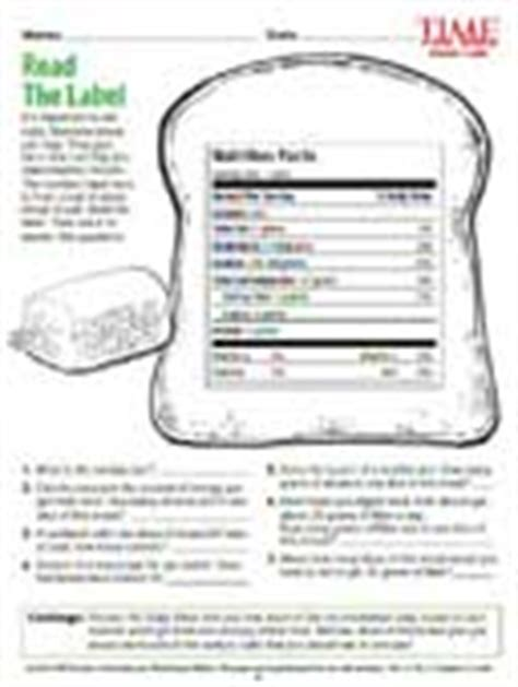Reading Nutrition Labels Worksheet by New March 2010 Part 2 Esl Resources