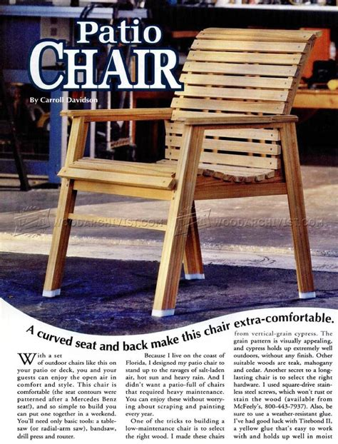 Patio Chair Plans ? WoodArchivist