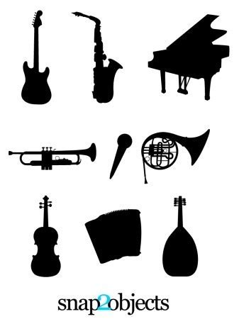 Musical Instruments Silhouettes | snap2objects