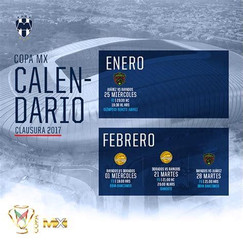 listo calendario de rayados en la copa mx sitio oficial